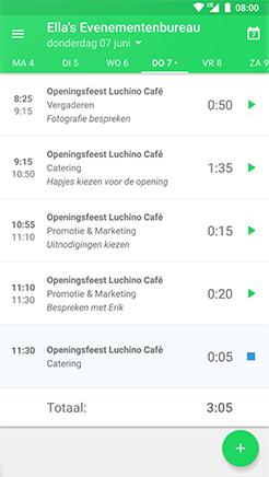 Keeping-tijdkaart voor urenregistratie in onze Android-app