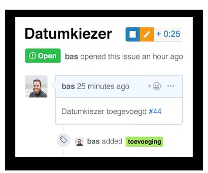 Tijdregistratie starten vanuit GitHub pull-request