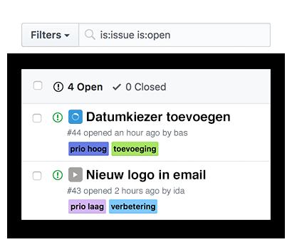 Tijdregistratie starten vanuit GitHub issues