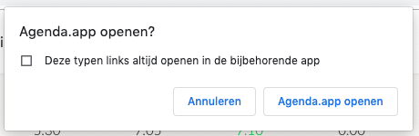 Het venster om je Apple agenda applicatie te openen